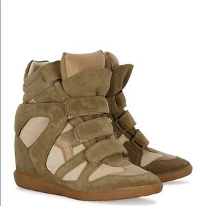Isabel Marant Becket Suede Wedge Sneakers